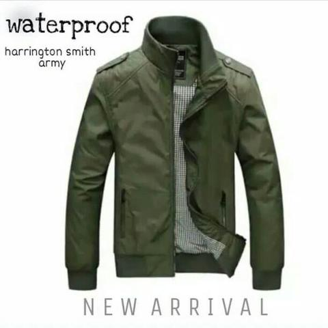 Jaket Harrington Swith Waterproof Army L XL