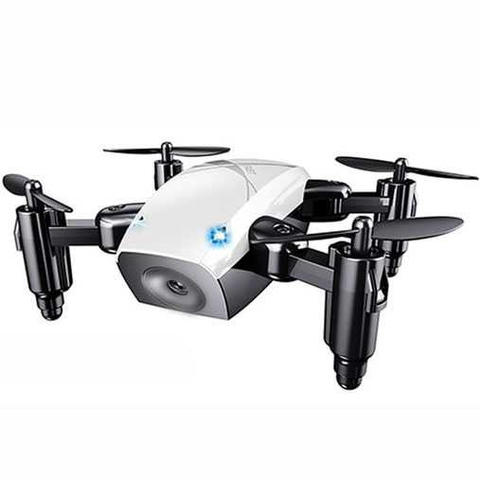Quadcopter Drone Mini Pocket Foldable - S9 - Putih