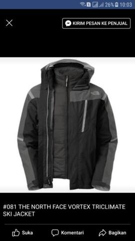 THE NORTH FACE VORTEX TRICLIMATE SIZE S & M MENS BKN TNF RAB ARCTERYX JAKET SALOMON