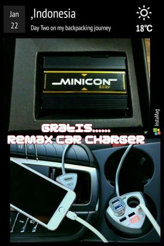 minicon free remac car charger alien series