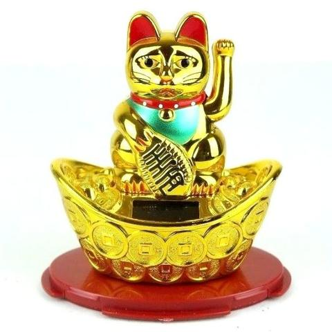 Boneka Solar Kucing Hokky Money Gold Kado Romantis