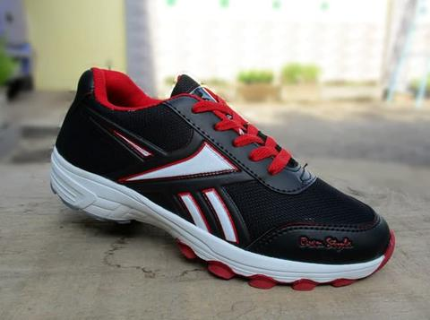 SEPATU SPORTS BADMINTON REEBOK BLACK RED SIZE 39 - 43