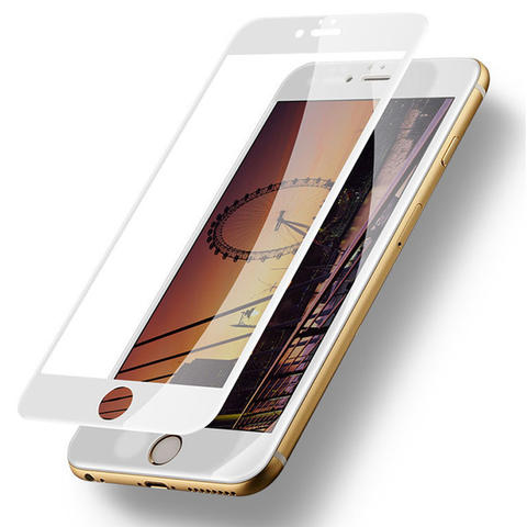 Tempered Glass Full Cover Color Iphone 6/7/8 s plus
