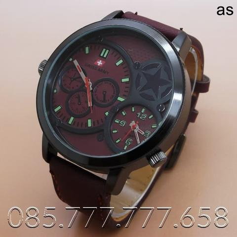 Swiss Army BA702 Dualtime (Brown Red Leather)