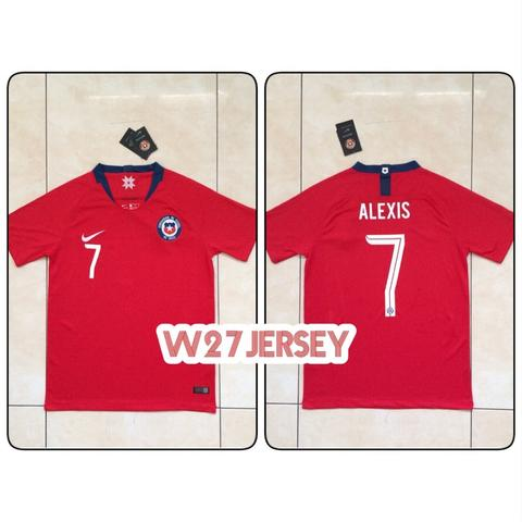 Jersey Chile Home 2018 name player Alexis