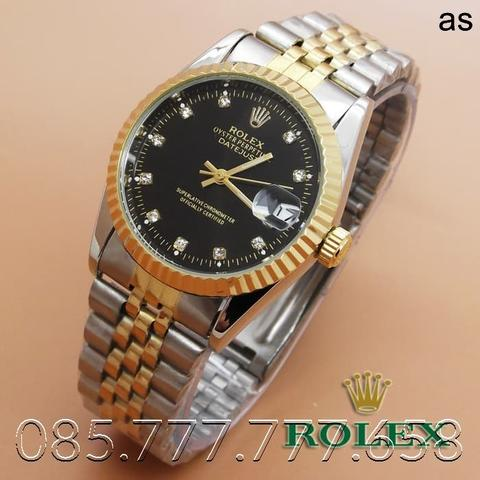 Rolex Oyster (Black Dial Combi Gold)