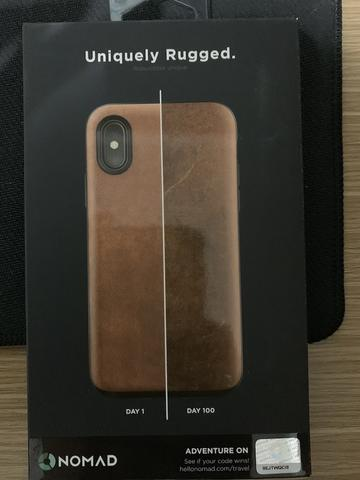 buy online a036e b357e Nomad Horween Leather Rugged for iPhone X or XS