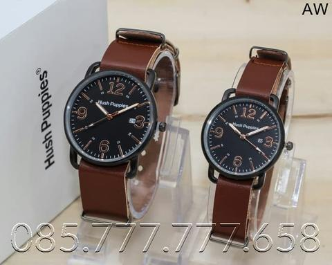 JAM TANGAN HUSH PUPPIES CP KULIT RING BLACK 0422