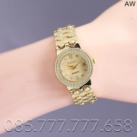 READY JAM TANGAN WANITA FOSSIL RANTAI GOLD UK D-26MM