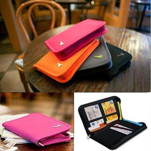 Korean Passport Wallet Card ID Holder Organizer Travelus Dompet Paspor