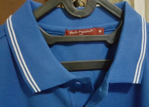 Polo Hush Puppies Ortis Blue size M NEW ORI hrg TERGILA!!!