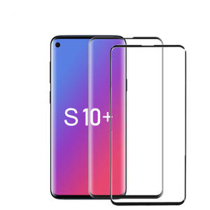 TEMPERED GLASS SAMSUNG S10 PLUS COLOR FULL COVER BLACK ONLY