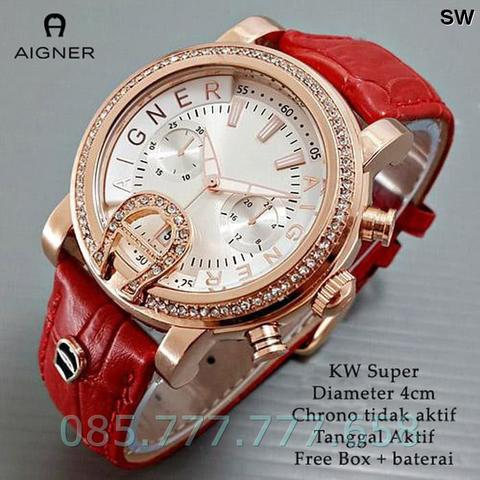 Aigner Bari ring Diamond Leather (5 piliwahn warna) - Merah