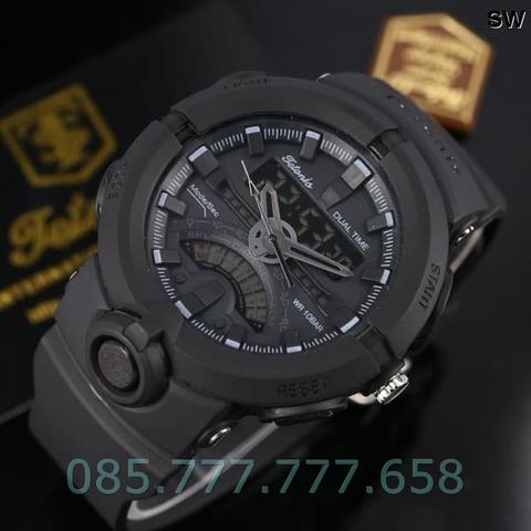 Jam Tangan Pria Tetonis Original Man TM8200 Rubber Full Black