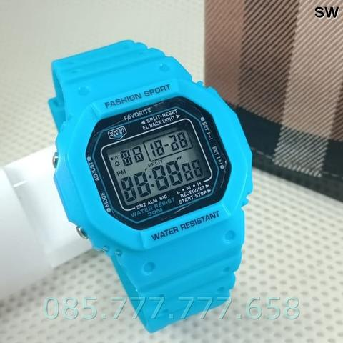 Jam Tangan Wanita / Pria Favorite Original FE300 Rubber Light Blue