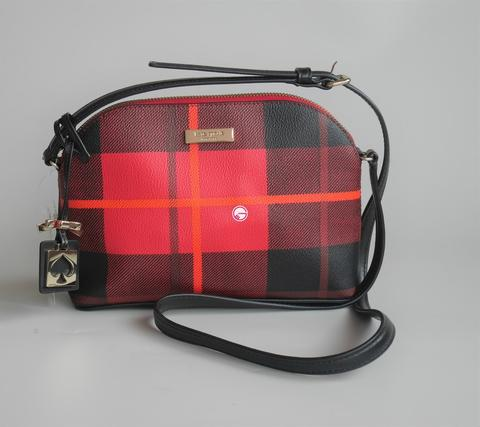 Kate Spade Hanna Brightwater Drive Plaid Red Carpet
