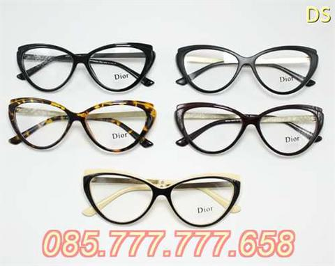 Frame Kacamata Minus Baca New Fashion Cat Eye Wanita - coklat krem