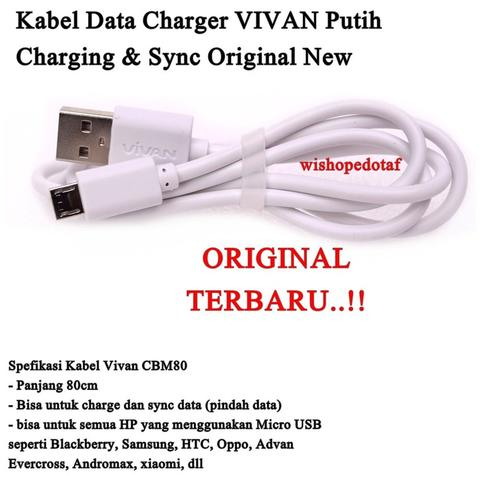 Obral Kabel Data Charger Micro USB Cable Termurah - White