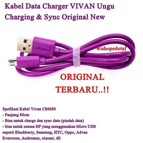 Grosir kabel data hp murah-ungu