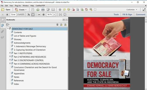 EBOOK Democracy for sale elections, clientelism, and the state in Indonesia