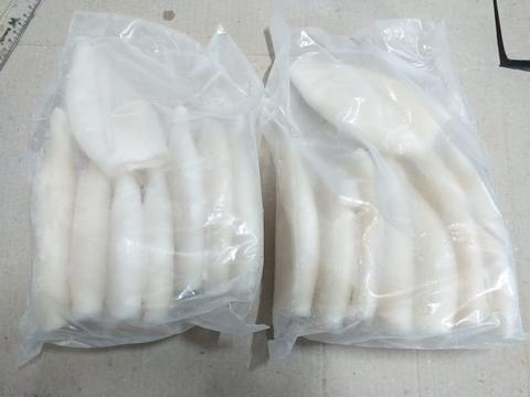 SUPPLIER FROZEN FOOD CUMI TUBE SIZE 15 CM FRESH PREMIUM EXPORT QUALITY 1 KG JAKARTA