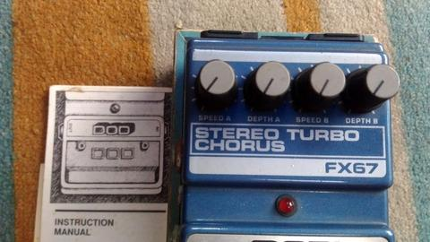 Guitar Effect DOD Stereo Turbo Chorus Made in USA