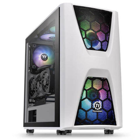[JoJo CompTech] Thermaltake Commander C34 TG ARGB Snow ATX Mid-Tower Chassis