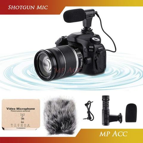MAMEN Camera DSLR Shotgun Vlog Smartphone Mic Microphone 3.5mm