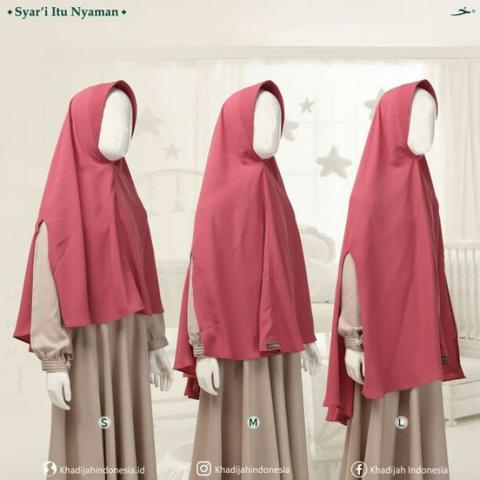 Basic antem split hand kids khimar by khadijah indonesia