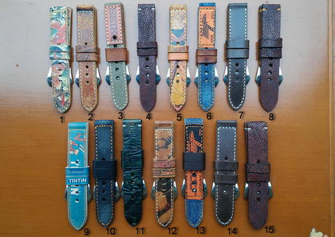 PART 78 Leather Strap Vintage size 20/22/24mm.
