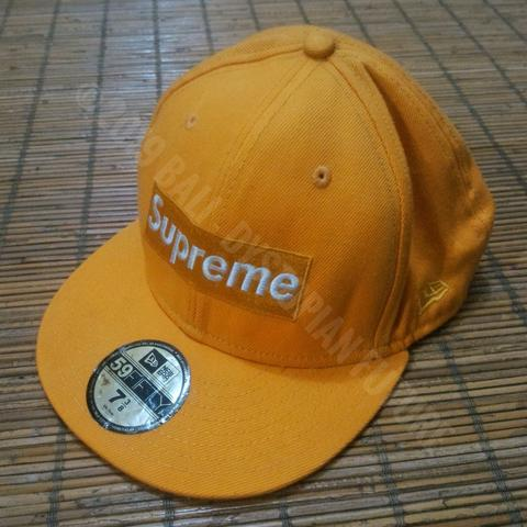 Supreme New Era 59fifty Box Logo Fitted Cap Yellow