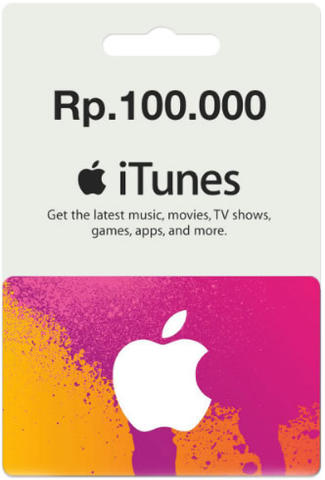Isi Saldo Apple ID / AddFunds AppStore / iTunes Gift Card Indonesia / IGC Indo