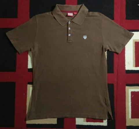 Polo Shirt Onitsuka Tiger Brown original RARE lho..kondisi mantull