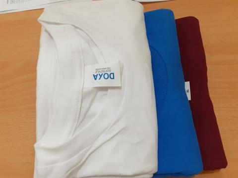 Kaos Polos Doxa Apparel Softstyle White, Maroon, Royal