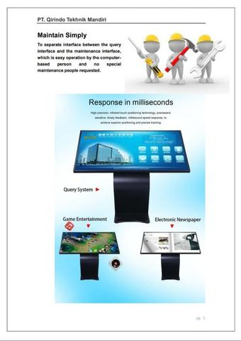 Touch Screen Wall Mounted 43'' Samsung