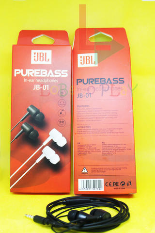 Headset Earphone Handsfree JBL JB-01 PUREBASS Headphones
