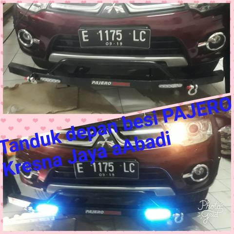 TANDUK DEPAN MINI BESI ALL NEW PAJERO