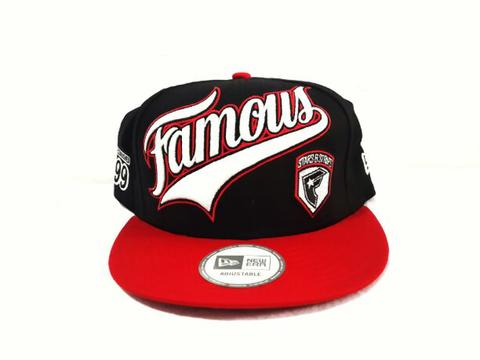 Famous Stars and Straps Snapback Ball Player Black Red New Original