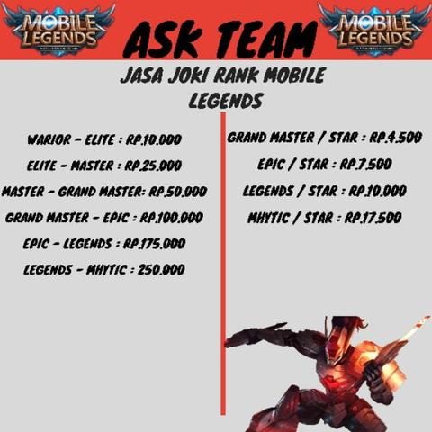 Jasa Joki Rank Mobile legend murah Meriah