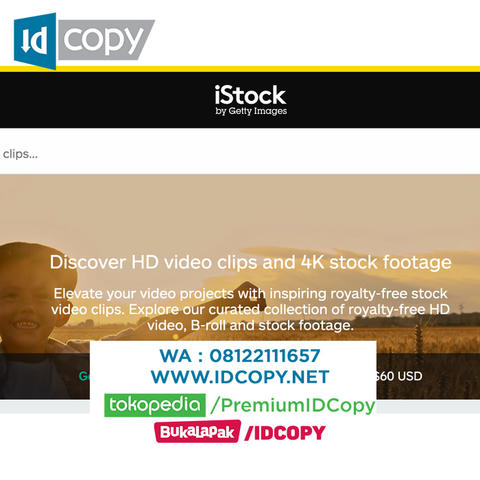 Jual iStockphoto video footage HD Signature Collection
