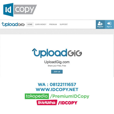 Jual Uploadgig Premium Account Murah Bergaransi Fast Download Recommended