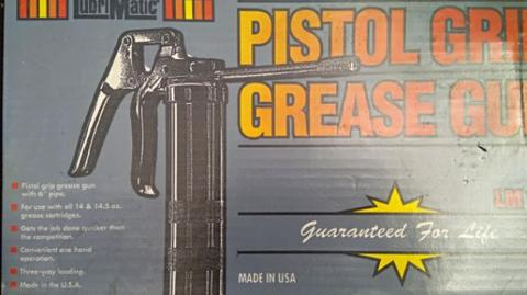 Lubrimatic Pistol Grease made in USA.