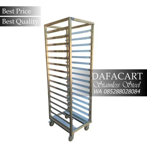 Gastronom Bakery Trolley Stainless Steel Troli Untuk Food Pan