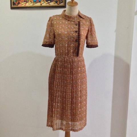 AUTHENTIC MAURIE & EVE VINTAGE BROWN DRESS