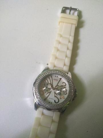 GUESS STEEL I11046L2 Crystal Resin Band Ladies Watch Original