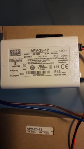 Power Supply Mean Well LED Driver APV-25-12 Single output