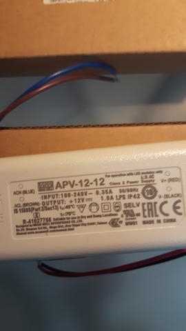 Power Supply Single Output LED Driver Mean Well APV-12-12