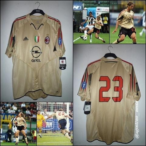 Jersey Milan Third 2004/05 Original Player Issue Double Layer