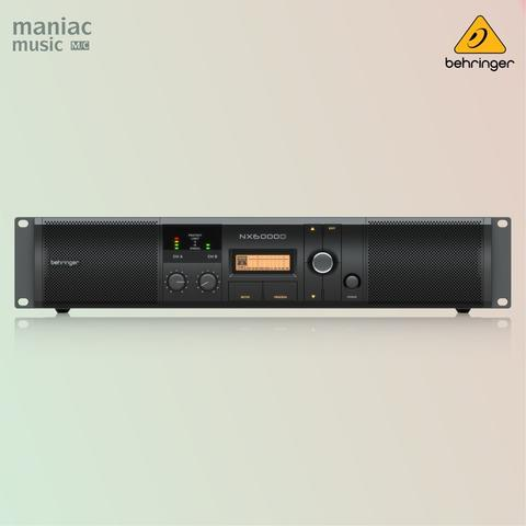 Behringer NX6000D (Power Amplifier, 6000W, DSP, Crossover, SmartSense)