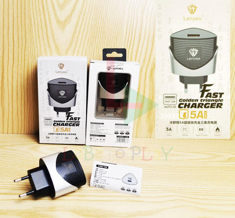 Batok Charger Lenyes 5A Original Fast Golden Triangle Charging